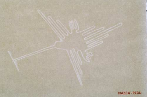 Watermarked Nazca lines - The hummingbird