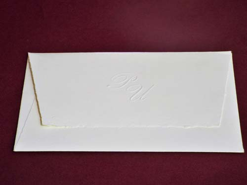 Envelope, our style 'Lima', with embossed initials
