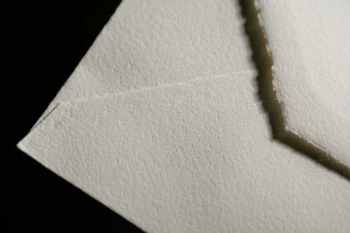 Envelope, our style 'Cusco', detail