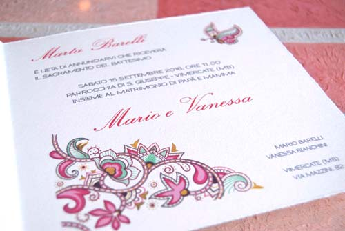 Wedding card 'Tenerezza', detail