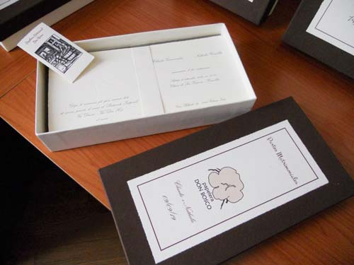 Weddings cards in their box